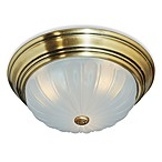 Melon 1-Light Flush Mount in Antique Brass