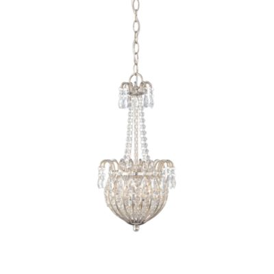 Crystal Pendant With Imperial Silver