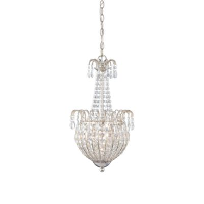 Quoizel® Jolene 3-Light Crystal and Imperial Silver Bell Pendant