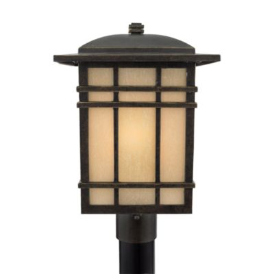 Quoizel® Hillcrest 1-Light Small Outdoor Post Lantern in Imperial Bronze