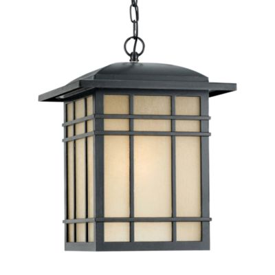 Quoizel Hillcrest Ceiling Mount Outdoor Large Hanging Lantern in Imperial Bronze