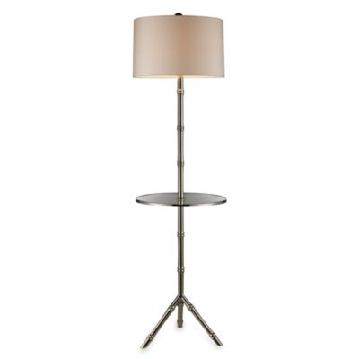 Dimond Lighting Stanton Silver Plated Floor Lamp With Glass Tray Table