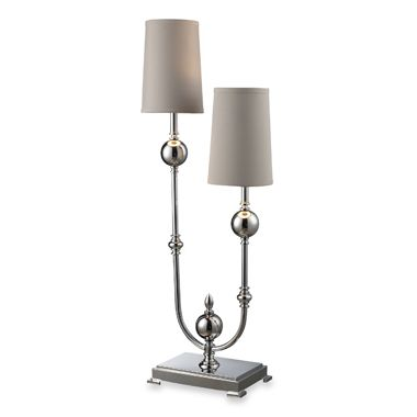 Dimond Lighting Boliver Chrome 2-Light Table Lamp