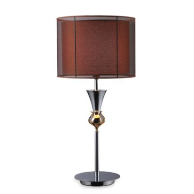 Dimond Lighting Dunbar Chrome and Gold Plate Table Lamp