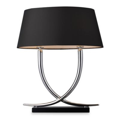 Dimond Lighting Trump Home™ Park East 2-Light Table Lamp in Chrome and Black