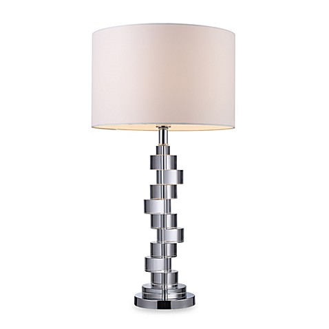 Dimond Lighting Armagh Clear Crystal and Chrome Table Lamp