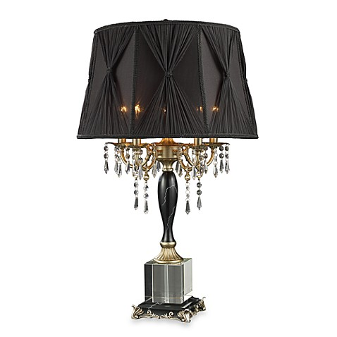Dimond Lighting Mount Caufield Black Faux Marble 5-Light Table Lamp
