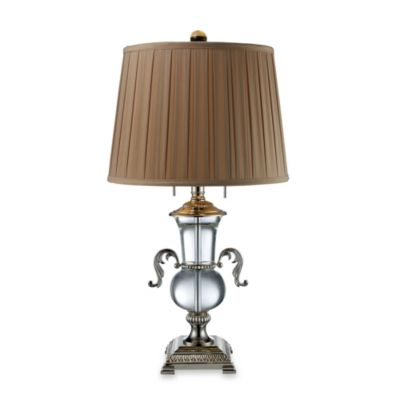 Dimond Lighting Raven Clear Crystal and Polished Nickel 2-Light Table Lamp