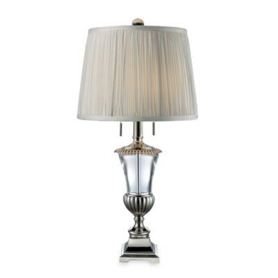 Dimond Lighting Bunting Clear Crystal and Polished Nickel 2-Light Table Lamp