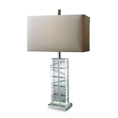 Dimond Lighting Avalon Clear Crystal and Chrome Table Lamp