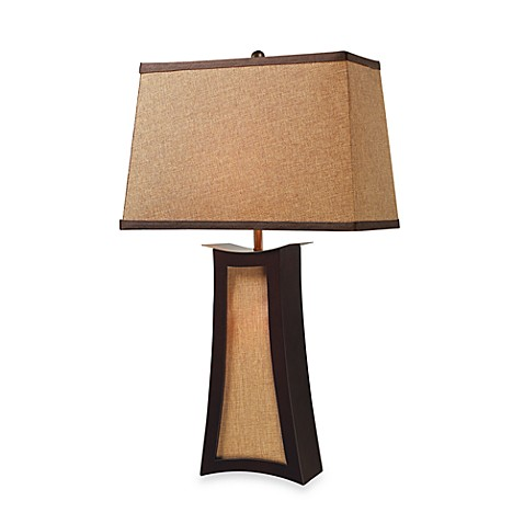 Dimond Lighting Convergence Wood and Natural Linen Table Lamp