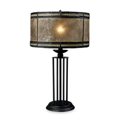 Dimond Lighting Mica Filigree Antique Black Table Lamp
