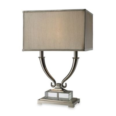 Dimond Lighting Roberts Polished Nickel and Clear Crystal 2-Light Table Lamp