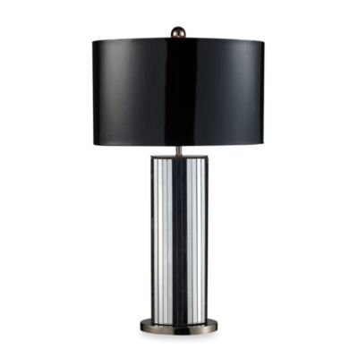 Dimond Lighting Shreve Mirror and Black Nickel Table Lamp
