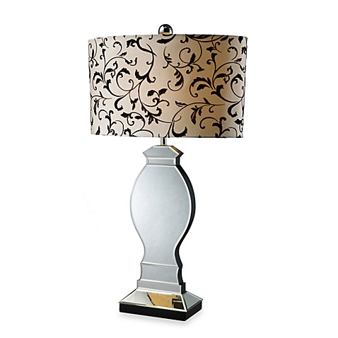 Dimond Lighting Luverne Mirror and Black Table Lamp