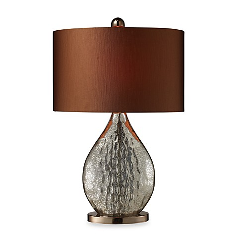 Dimond Lighting Sovereign Antique Mercury Glass and Coffee Plated Table Lamp