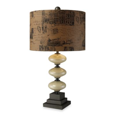Dimond Lighting Brantley Cream and Matte Grey Table Lamp