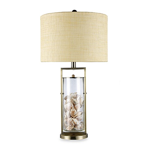 Dimond Lighting Millisle Antique Brass and Clear Glass Table Lamp