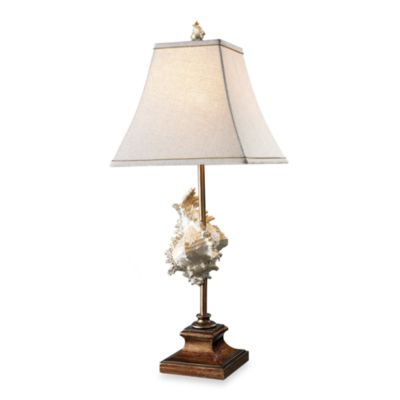 Dimond Lighting Delray Conch Shell and Bronze Table Lamp