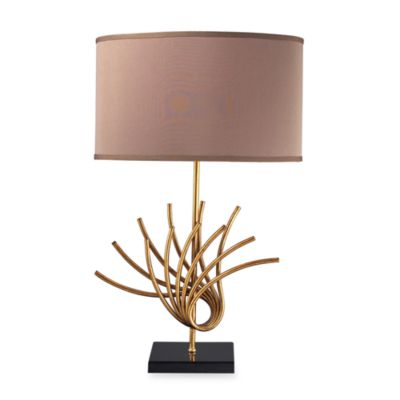 Dimond Lighting Sandhill Gold Leaf Table Lamp
