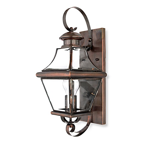 Carleton Aged Copper and Glass Outdoor Lantern