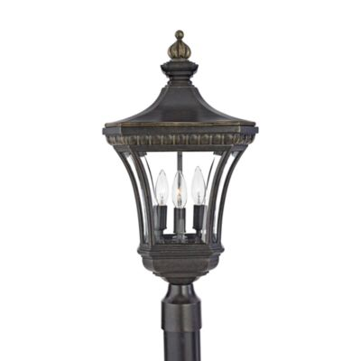 Devon 3-Light Outdoor Post Lantern with Imperial Bronze Finish