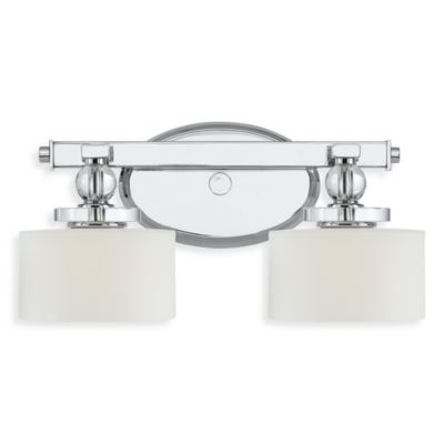 Quoizel® Downtown 7.5-Inch x 15-Inch 2-Light Bath Fixture in Polished Chrome