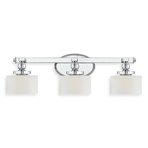 Quoizel® Downtown 7.5-Inch x 24.5-Inch 3-Light Bath Fixture in Polished Chrome