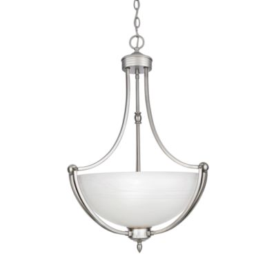 Quoizel® Delray 3-Light Pendant with Faux Etched Alabaster Shade