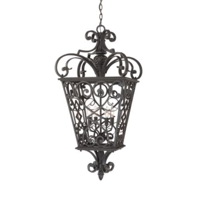 Black Fort Quinn 60-Watt 4-Light Hanging Outdoor Fixture