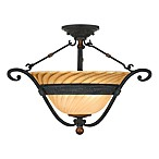 Genova Stonehedge Finish Semi-Flush Light Fixture