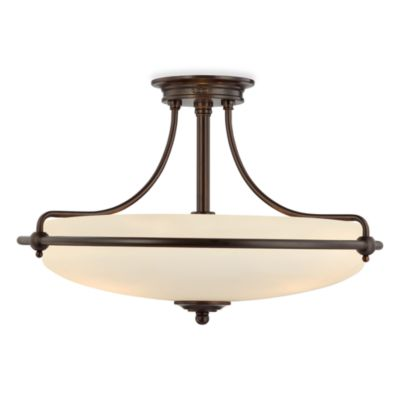 Quoizel® Griffin 4-Light Semi-Flush Palladian Bronze Lamp
