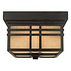 Hillcrest Outdoor Dual Light Fixture With Opaque Linen Glass