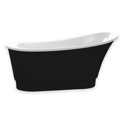 ANZZI Prima 5.58 ft. Freestanding Bathtub in Black