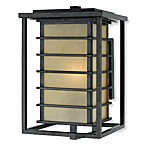 Jonathan Exterior Light in Champagne, Marble Glass and Imperial Bronze Iron