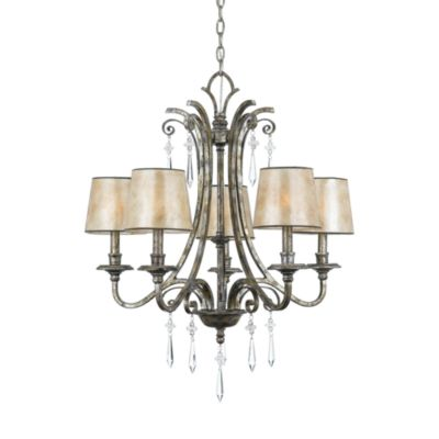 Kendra 5-Light Chandelier in Mottled Silver