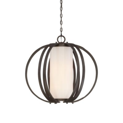 Barstow Pendant Lamp With White Glass Shade