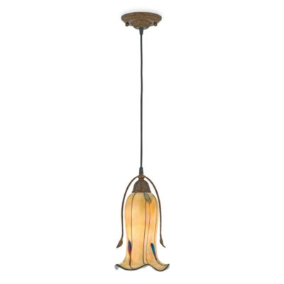 Handcrafted Casanova Mini Pendant Light With Leaf Glass Accents