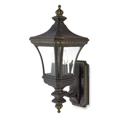Quoizel® Devon 2-Light Outdoor Fixture w/Imperial Bronze Finish and Clear Beveled Glass Panels