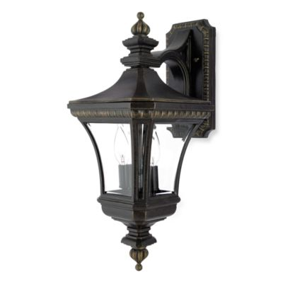 Devon Outdoor 2-Light Fixture in Imperial Bronze and Clear Glass