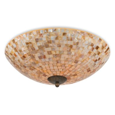Monterey 4-Light Mosaic Flush Mount Fixture with Malaga Finish