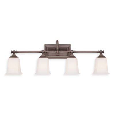 Nicholas 4-Light Bath Fixture in Harbor Bronze