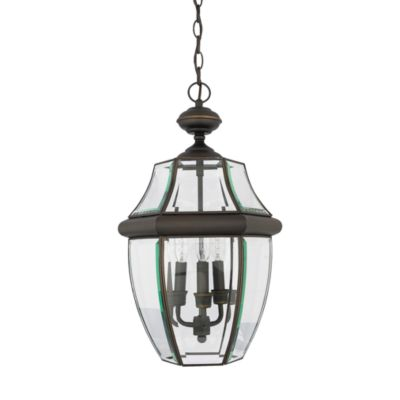 Newberry Medici Bronze Finish Outdoor Hanging 3-Light Fixture
