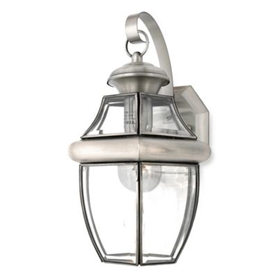 Newbury 1-Light Outdoor Wall Fixture with Pewter Finish