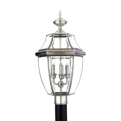 Newbury Pewter Outdoor Post Light