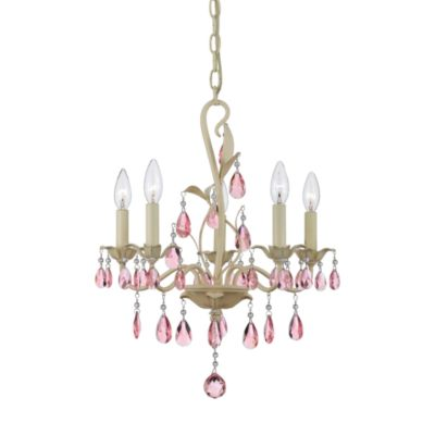 Quoizel® Ophelia 5-Light Candelabra Mini Chandelier with Teardrop Crystals
