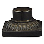 Outdoor Pier Mount Accessory With a Warm Medici Bronze Finish