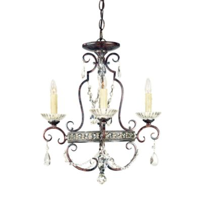 Seville 4-Light Mini Chandelier in Royal Bronze Finish