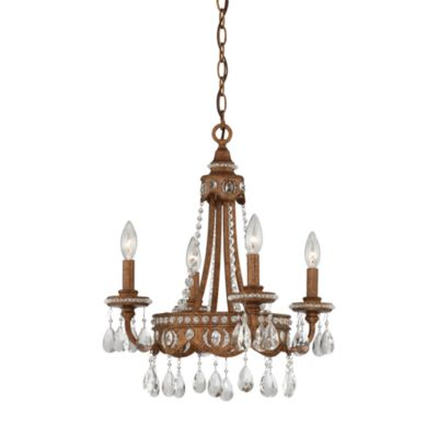 French-Inspired Mini Chandelier in Bolivian Bronze