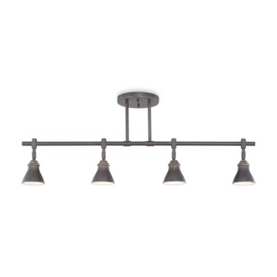 Contemporary 4-Light Ceiling Track Light Fixture in Palladian Bronze by Quoizel®